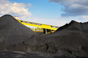 Heap of coal - coal mine