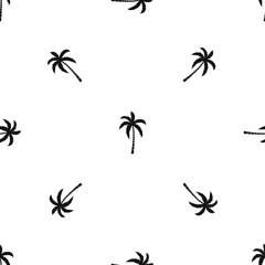 Palm tree pattern seamless black