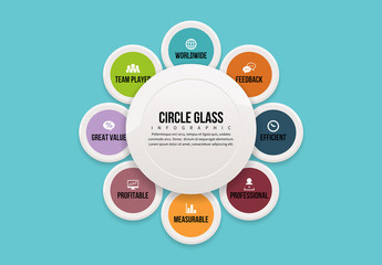Circle Glass Infographic