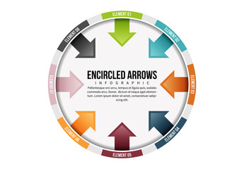 Encircled Arrows Infographic