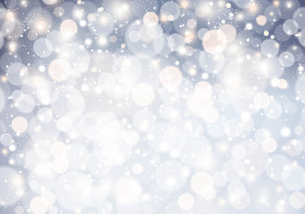 Christmas background with glitter light