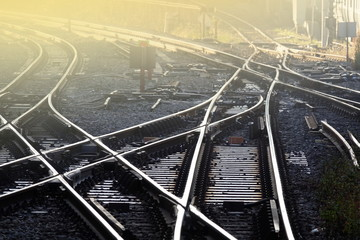 railway track in the morning