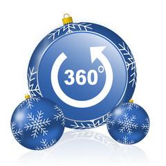Panorama blue christmas balls icon