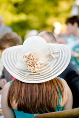Woman with Kentucky Derby Hat