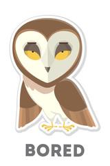 Isolated bored owl.