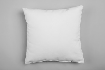 Soft pillow on light background