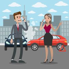 Traffic accident illustration.