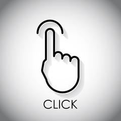 Finger click logo, business concept, vector