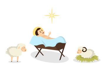 Isolated baby Jesus.