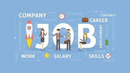 Job concept illustration.