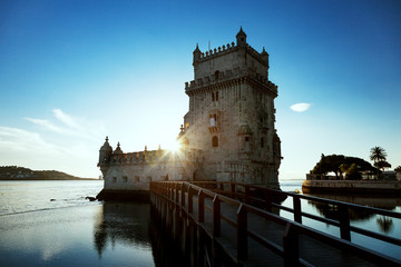Lisbon, Belem Tower on the Tagus River, Portugal