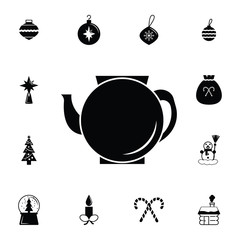 Kettle icon. Set of elements Christmas Holiday or New Year icons. Winter time premium quality graphic design collection icons for websites, web design, mobile app