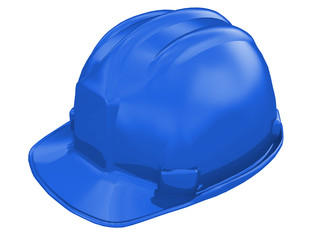 worker helmet of a construction site on a white background 3d rendering