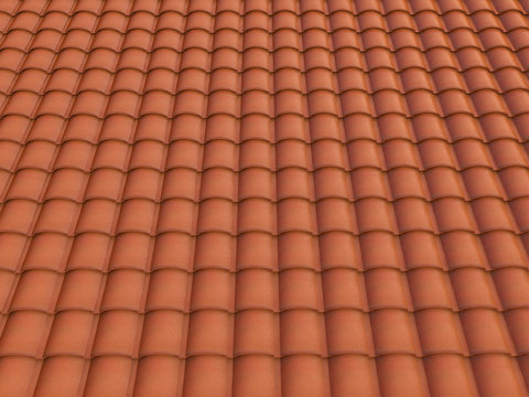 roof spanish tile texture 3d