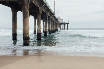 Manhattan Beach Pier in Los Angeles, CA USA