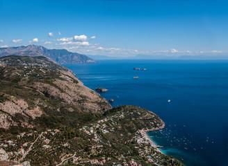 Aerial view Nerano village, by Amalfi Coast, Italy