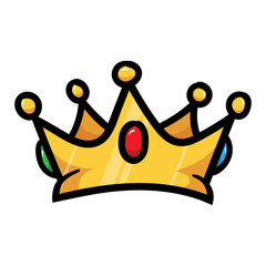 Cartoon Crown Vector Illustration