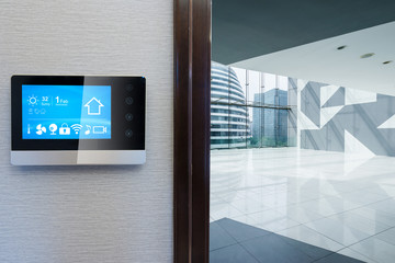 smart screen with smart home with empty office