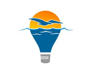 dusk lamp illustration