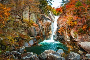 昇仙峡仙娥滝の秋風景2017
