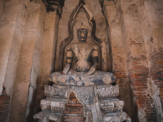Ancient buddha statue in Ayutthaya, Thailand