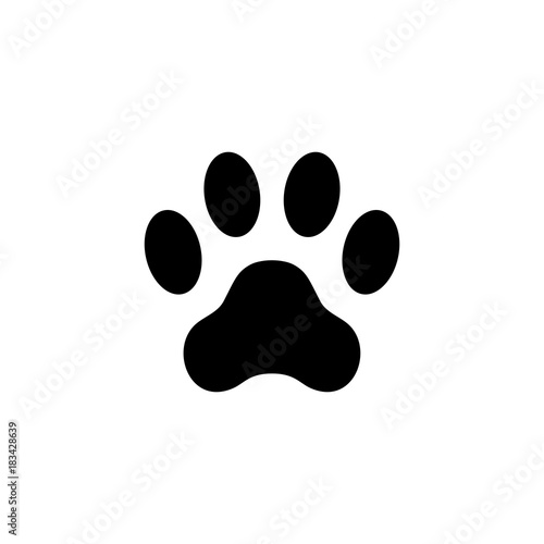 f4e820c89410 Cat paw print. Footprint. Animal paw isolated on white background ...