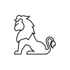 lion icon illustration