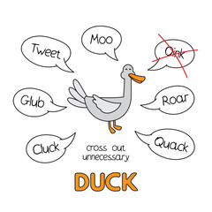 Cartoon Duck Kids Learning Game