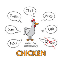 Cartoon Chicken Kids Learning Game