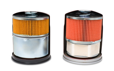 oil filters, clipping path