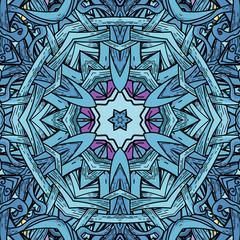 Vector seamless  pattern in mandala style
