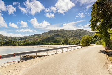 Road by the sea, Paslin island, Seychelles