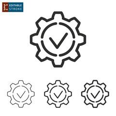 Settings line vector icon. Editable stroke.
