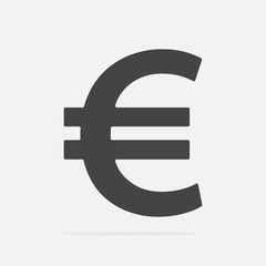 Vector image of the euro sign.  Vector illustration euro