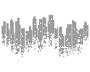 Modern City skyline . city silhouette. vector illustration
