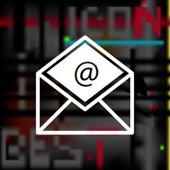 envelope icon. e-mail sign