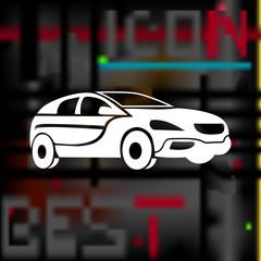 car icon. realistic sign