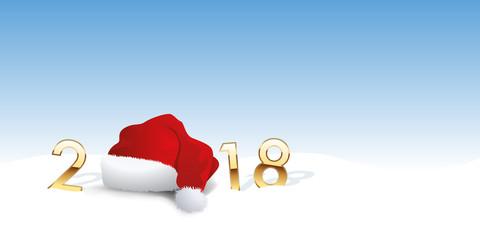 2018 - carte de vœux - noël - père noël - fond - arrière plan - jour de l'an - réveillon - vœux, neige