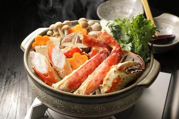 カニ鍋 Hot pot of red king crab