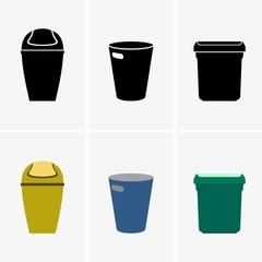 Trash bins or cans