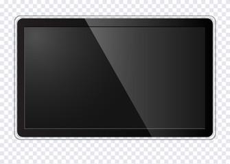 Realistic modern TV screen