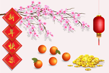 Vector design elements for Chinese Lunar New Year