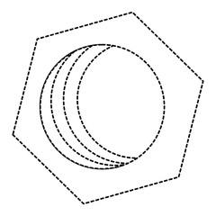 hexagonal nut isolated icon vector illustration design