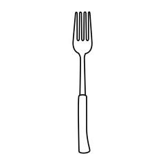 fork cutlery tool icon vector illustration design