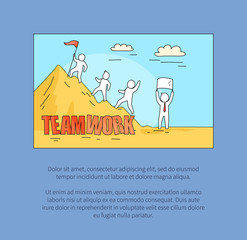 Teamwork Image and Text on Vector Illustration