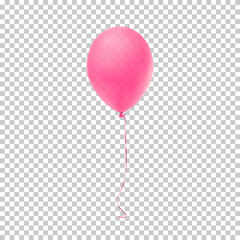 Realistic pink balloon.