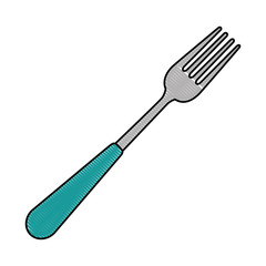 fork cutlery tool icon vector illustration design