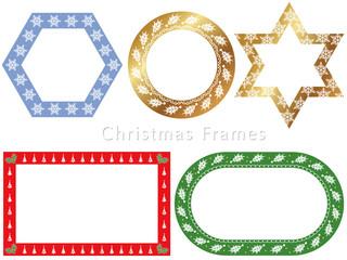 クリスマスのフレームセット