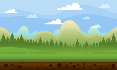 Mountain Game Background