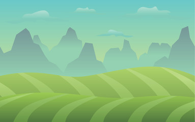 Calm Valley Game Background